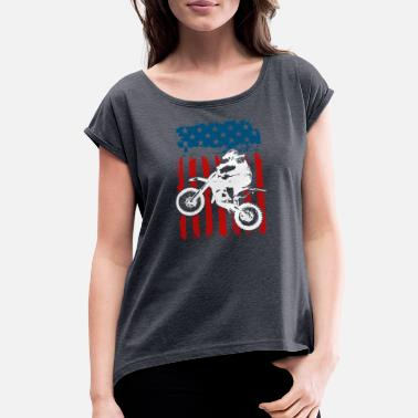 Gasoline Motorcycle USA - Women's Rolled Sleeve T-Shirt