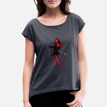 Pinup Devil Pinup - Women's Rolled Sleeve T-Shirt