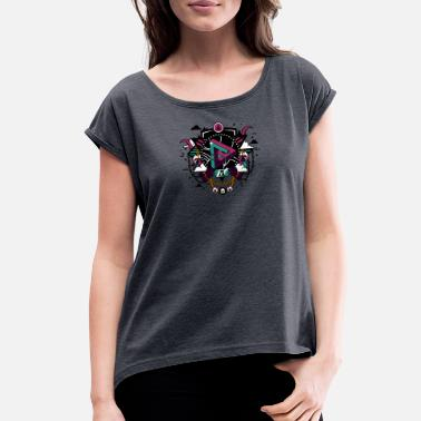 Pseudo Pseudo Triangle - Women's Roll Cuff T-Shirt