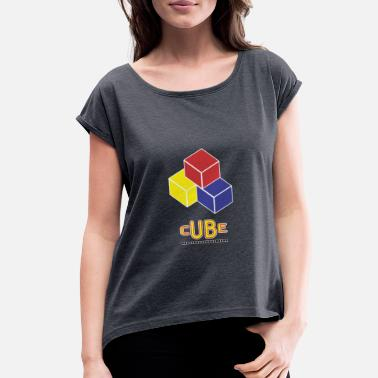 Cube cube - Women's Rolled Sleeve T-Shirt