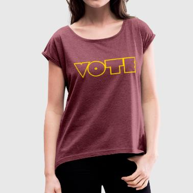 Vote - Women's Roll Cuff T-Shirt