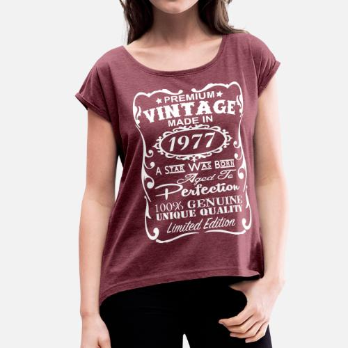 40th Birthday Gift Ideas For Men Womens Rolled Sleeve T Shirt