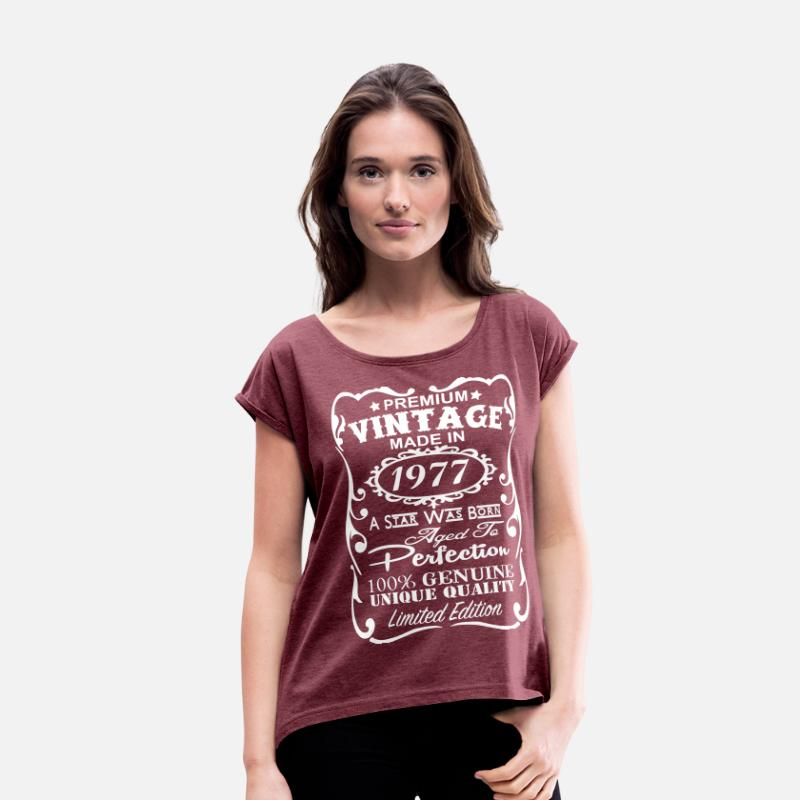 Birthday T Shirts 40th Gift Ideas For Women S Rolled Sleeve