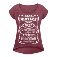 Birthday T-Shirts - 90th Birthday Gift Ideas for Women - Womenu0027s Rolled Sleeve T  sc 1 st  Spreadshirt : 90th birthday gift ideas female - princetonregatta.org