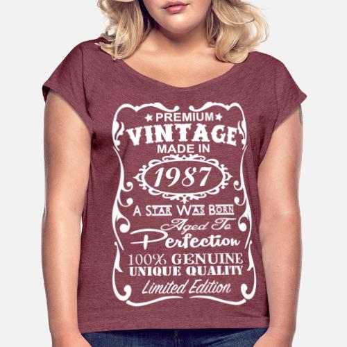 30th Birthday Gift Ideas For Women Women's Rolled Sleeve T