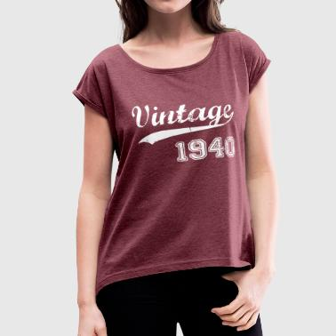 1940 1940 - Women's Roll Cuff T-Shirt