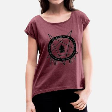 Lgs MJT logo Lg Center - Women's Roll Cuff T-Shirt