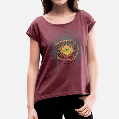 Native American Nature2 - Women's Roll Cuff T-Shirt