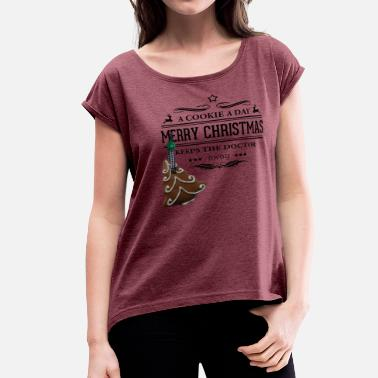 Cookie Decorating cookie - Women's Roll Cuff T-Shirt