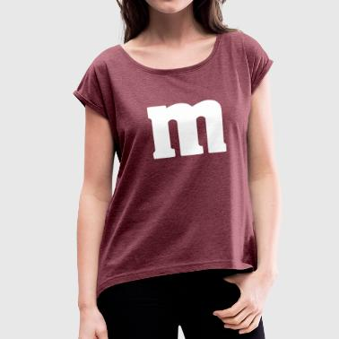 LETTER M - Women's Roll Cuff T-Shirt