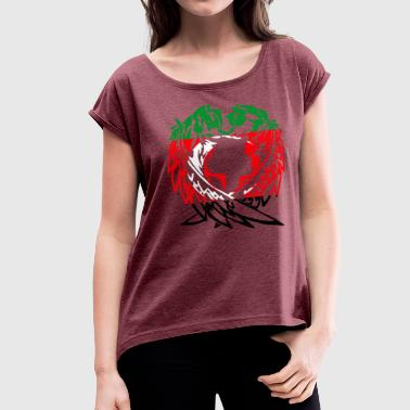 DARFUR WOLF LOVE - Women's Roll Cuff T-Shirt