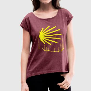 Way to Santiago 034 Yellow - Women's Roll Cuff T-Shirt