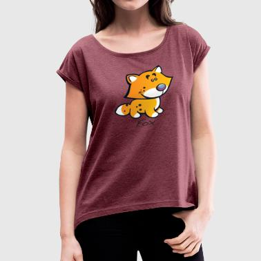 Animal Collective Fox Collection - Women's Roll Cuff T-Shirt