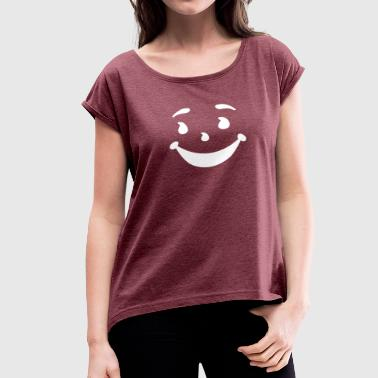 KOOL MAN AID FACE Oh Yeah 90s Retro Cool Funny Smi - Women's Roll Cuff T-Shirt
