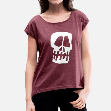 Tie Dye Cartoon Stussy_Big Skull Tie Dye Crew - Women's Roll Cuff T-Shirt