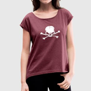 Skull Skeleton - Women's Roll Cuff T-Shirt