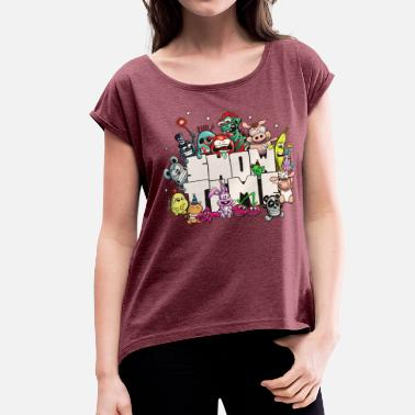 Sketchbook showtime - Women's Rolled Sleeve T-Shirt