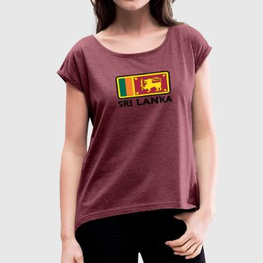 Front National National Flag Of Sri Lanka - Women's Roll Cuff T-Shirt