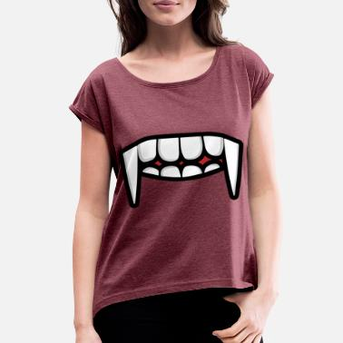 Mouth face mask mask face tooth mouth - Women's Rolled Sleeve T-Shirt
