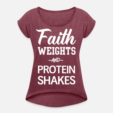 a452f1cd Faith Weights and Protein Shakes Women's Premium T-Shirt | Spreadshirt