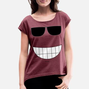 Big Smile Big Smile - Women's Roll Cuff T-Shirt