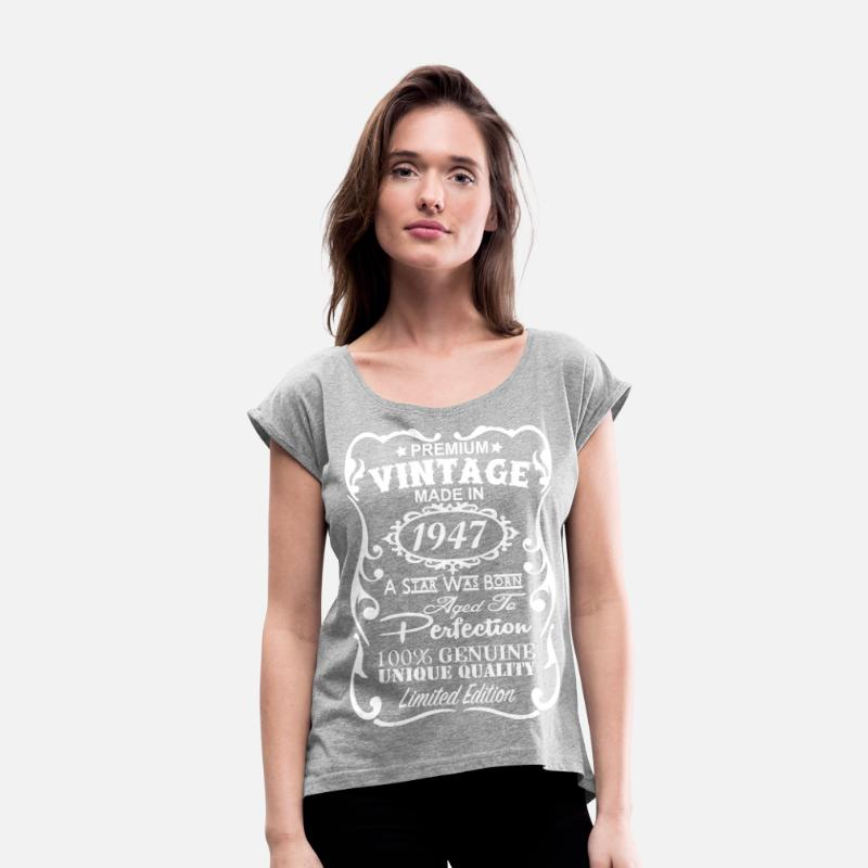 70th Birthday Gift Ideas For Men Womens Rolled Sleeve T Shirt