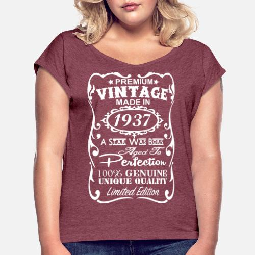 80th Birthday Gift Ideas For Women Womens Rolled Sleeve T Shirt