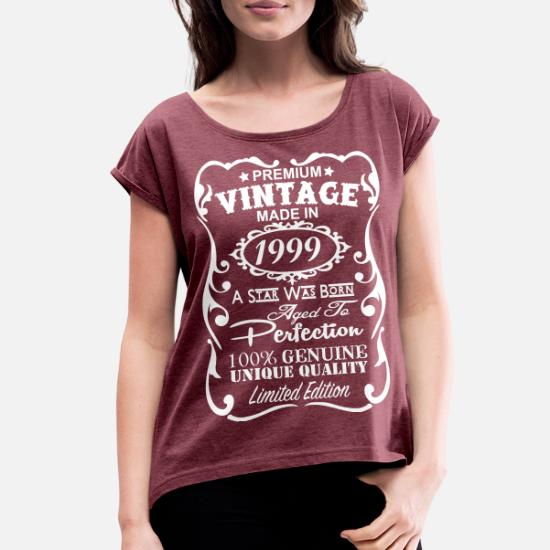 Womens Rolled Sleeve T Shirt18th Birthday Gift Ideas For Women