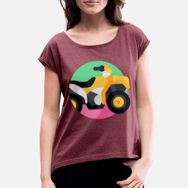 Vehicle vehicle illustration - Women's Rolled Sleeve T-Shirt
