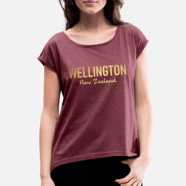 New Zealand Wellington - New Zealand - Aotearoa - Kiwi - Maori - Women's Rolled Sleeve T-Shirt