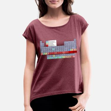 Periodic Table Back To School - Periodic Table - Women's Rolled Sleeve T-Shirt