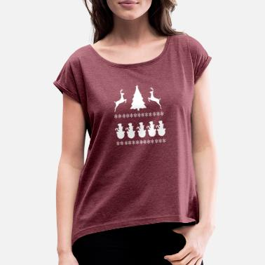 Scene Christmass Scene - Women's Rolled Sleeve T-Shirt