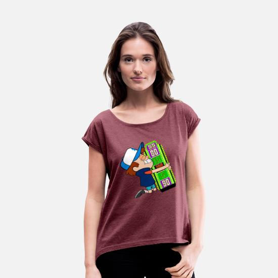 Price T-Shirts - TV Game Show Contestant - TPIR (The Price Is...) - Women's Rolled Sleeve T-Shirt heather burgundy