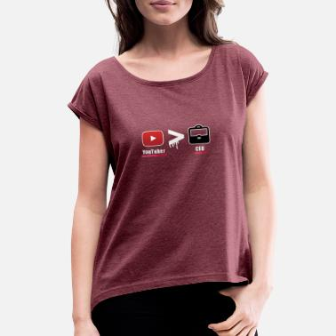Youtuber Sketch YouTubers - Women's Roll Cuff T-Shirt