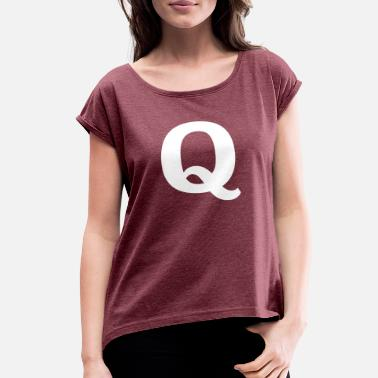 Expand Your Thinking Simple Q - Women's Rolled Sleeve T-Shirt