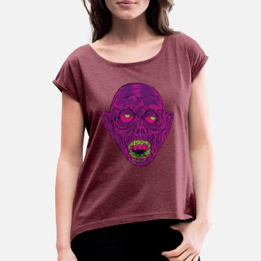 Ghastly Graveyard Ghoul Ghastly Grape - Women's Rolled Sleeve T-Shirt