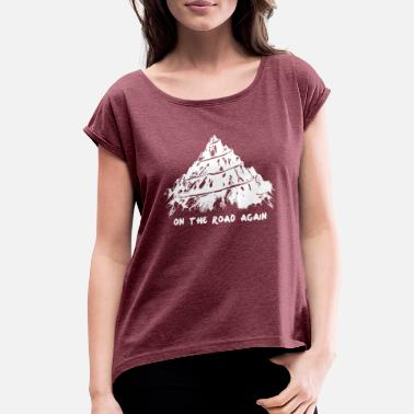 On The Road Again new design On the road again best seller - Women's Roll Cuff T-Shirt