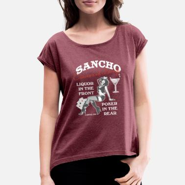 Sancho Sancho casino and lounge Liquor in the front - Women's Roll Cuff T-Shirt