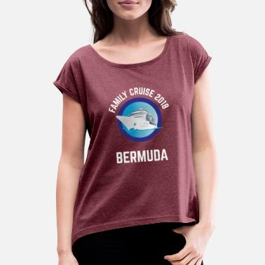Cruise Group Family Cruise 2018 Bermuda T-shirt for Group Vacation - Women's Roll Cuff T-Shirt