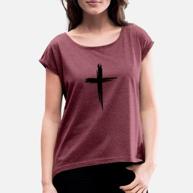 Kreuz kreuz - Women's Rolled Sleeve T-Shirt