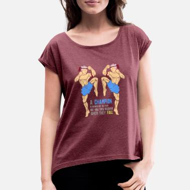 Thai Boxing Thai Boxing - Women's Rolled Sleeve T-Shirt