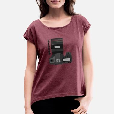 Geek Pun Intended ishoot - Women's Roll Cuff T-Shirt