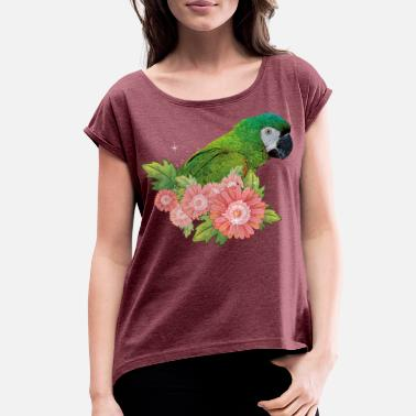 Large Macaw - Women's Rolled Sleeve T-Shirt