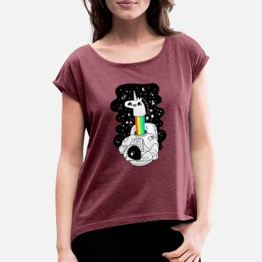 Space Unicorn space unicorn - Women's Rolled Sleeve T-Shirt