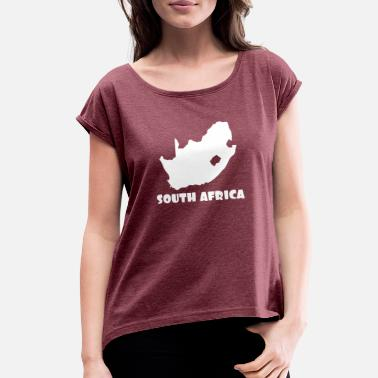 South Africa South Africa - Women's Rolled Sleeve T-Shirt