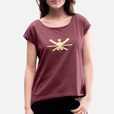 Ceiling ceiling fan - Women's Rolled Sleeve T-Shirt