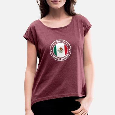 Bandera MADE IN BAHÍA DE BANDERAS - Women's Rolled Sleeve T-Shirt