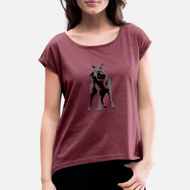 Savage Wolf Sporty Wolf - Women's Roll Cuff T-Shirt