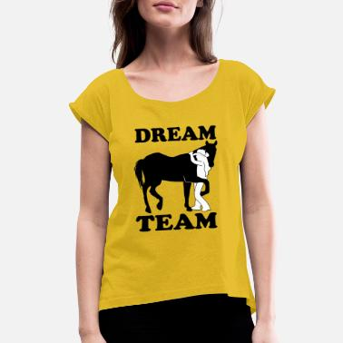 Dream Shoes Dream Team - Women's Rolled Sleeve T-Shirt