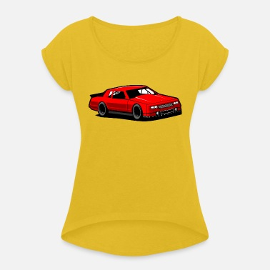 Chevy Racing Chevy Monte Carlo Racing Car - Women's Rolled Sleeve T-Shirt